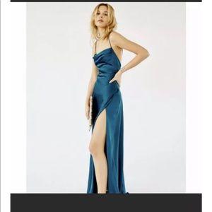 Free people teal rosabel dress size 2